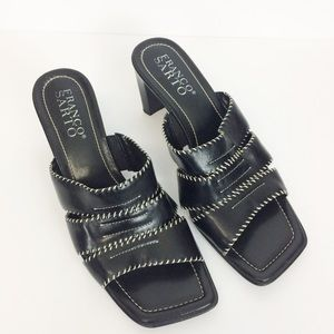 Franco Sarto Sandals Black Slip On Size 9.5M